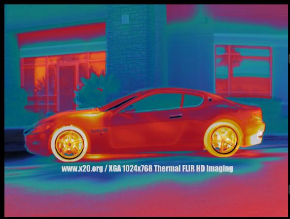 XGA 1024 x 768 resolution Thermal imaging FLIR HD image