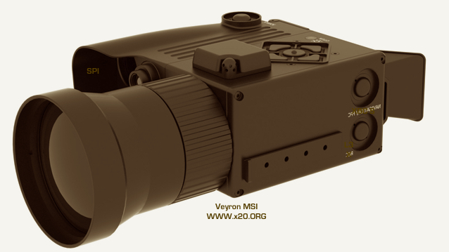hand held Veyron thermal imaging system