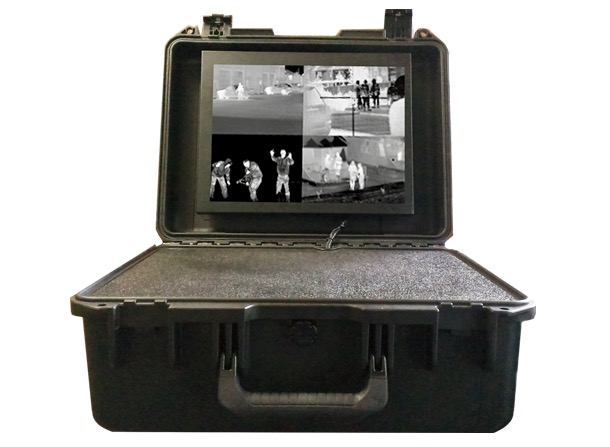 Portable thermal flir Ir imaging remote mobile surveillance system command and control viewing ptz station